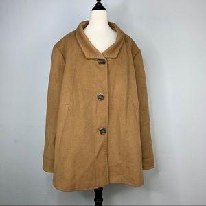 Ellen Tracy NWOT Wool Blend A-Line Coat